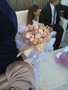 Il Bouquet della Sposa fatto di conchiglie