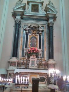 L'altare della Madonna della Consolazione